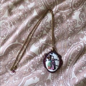 Tarina Tarantino Long Queen of Hearts Necklace